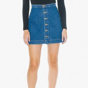 American Apparel Denim Miniskirt